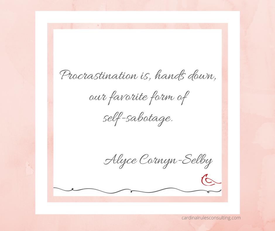 Procrastination self sabotage